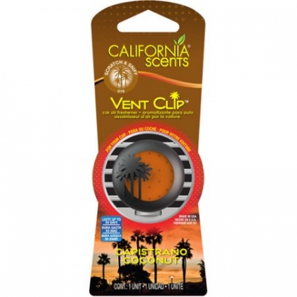CALIFORNIA SCENTS Vent Clips Coconut