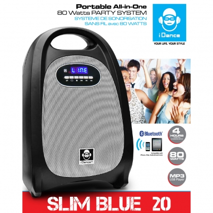 iDance Speakers Slim Blue 20