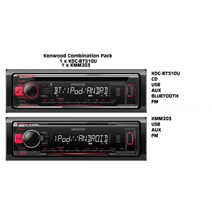KENWOOD Combination Pack - Bluetooth/CD & USB/AUX